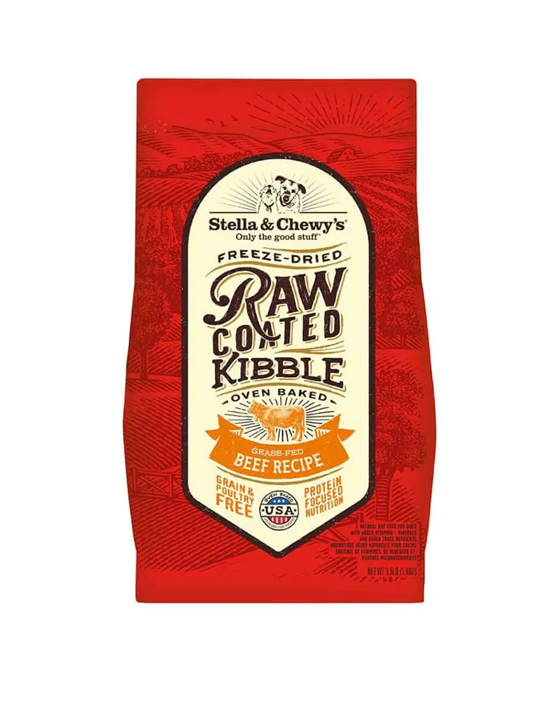 Grass-Fed Beef Raw Coated Kibble
